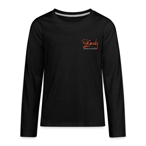 Helen O'Grady Orange Logo on Black - Kids' Premium Long Sleeve T-Shirt