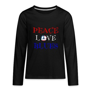 Peace, Love and Blues - Kids' Premium Long Sleeve T-Shirt