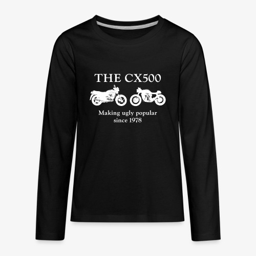 The CX500: Making Ugly Popular Since 1978 - Kids' Premium Long Sleeve T-Shirt