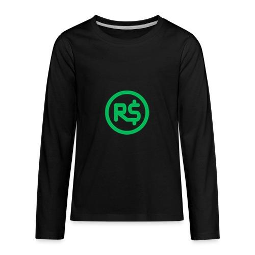 Robux Logo shirts - Kids' Premium Long Sleeve T-Shirt