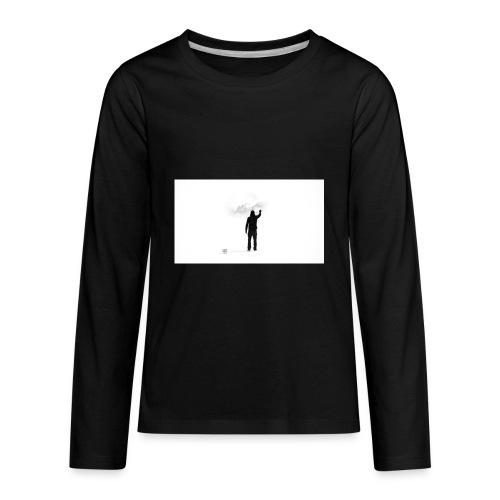 463034 men simple background digital art graffiti - Kids' Premium Long Sleeve T-Shirt