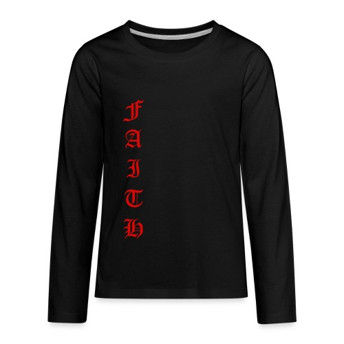 Faith Text - Kids' Premium Long Sleeve T-Shirt