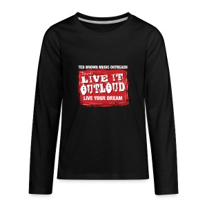 Live It OutLoud Logo - Kids' Premium Long Sleeve T-Shirt