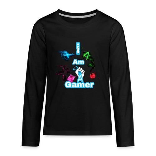I am a gear - Kids' Premium Long Sleeve T-Shirt
