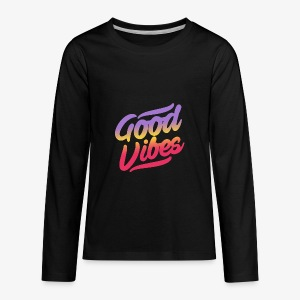 good vibes - Kids' Premium Long Sleeve T-Shirt