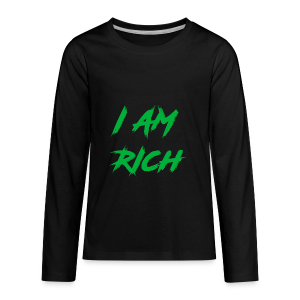 I AM RICH (WASTE YOUR MONEY) - Kids' Premium Long Sleeve T-Shirt