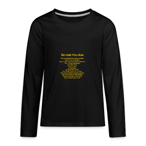 tshirt_pilotVersion_nologo_gold - Kids' Premium Long Sleeve T-Shirt