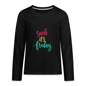 Smile its Friday - Kids' Premium Long Sleeve T-Shirt