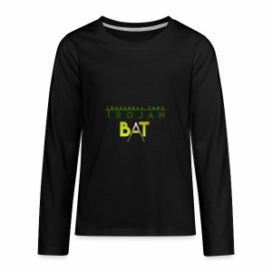 New Trojan Bat Logo - Kids' Premium Long Sleeve T-Shirt