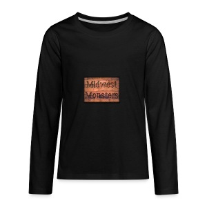 Midwest Monsters Wood Logo - Kids' Premium Long Sleeve T-Shirt