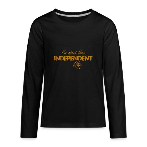 The Independent Life Gear - Kids' Premium Long Sleeve T-Shirt