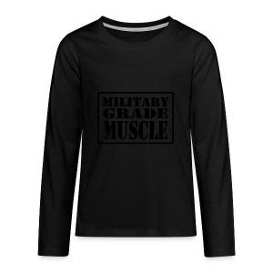 Military Grade Muscle Black - Kids' Premium Long Sleeve T-Shirt