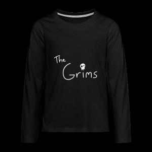 The Grims Logo - Kids' Premium Long Sleeve T-Shirt