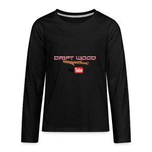 Drift Wood Official Merchandise WHITE - Kids' Premium Long Sleeve T-Shirt
