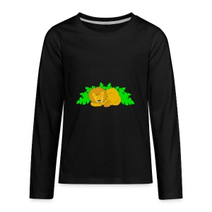 Sleeping Lion - Kids' Premium Long Sleeve T-Shirt