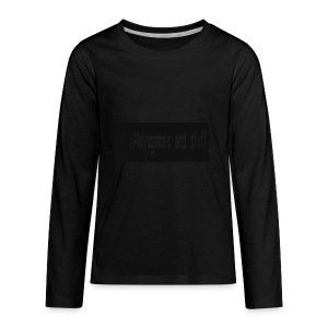 AlexPlaysgames and stuff design - Kids' Premium Long Sleeve T-Shirt