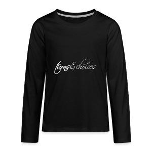 Turns & Choices - Kids' Premium Long Sleeve T-Shirt