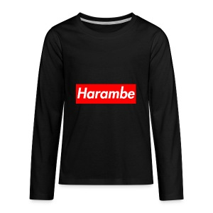 Harambe x Supreme Box Logo - Kids' Premium Long Sleeve T-Shirt