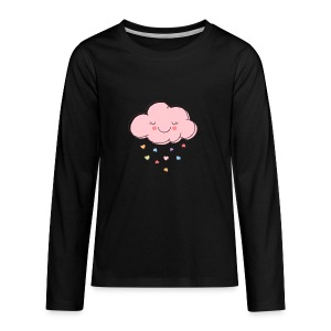 Raining Hearts - Kids' Premium Long Sleeve T-Shirt
