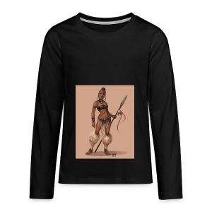 Female Warrior - Kids' Premium Long Sleeve T-Shirt