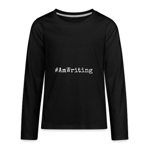 #AmWriting Gifts For Authors And Writers - Kids' Premium Long Sleeve T-Shirt