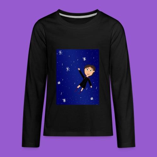 flying space girl - Kids' Premium Long Sleeve T-Shirt