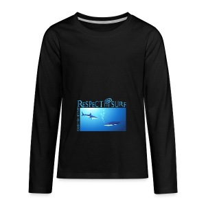 Respect The Shark - Kids' Premium Long Sleeve T-Shirt