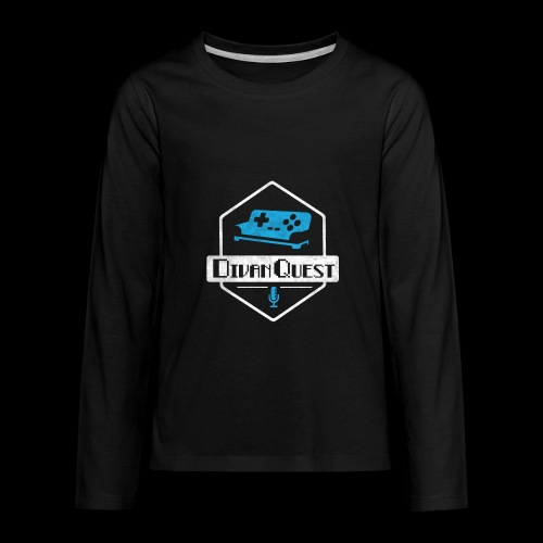 DivanQuest Logo (Badge) - Kids' Premium Long Sleeve T-Shirt