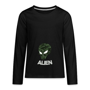 Military Alien - Kids' Premium Long Sleeve T-Shirt