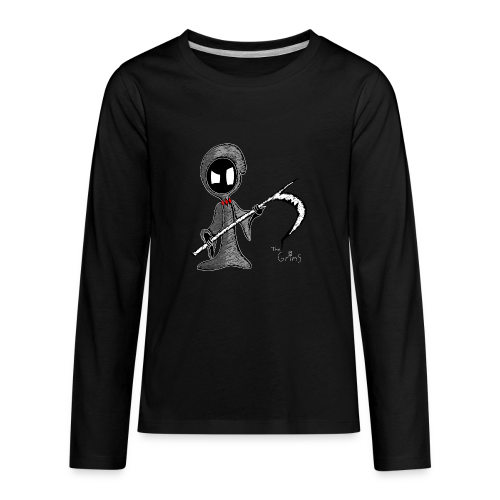 Mr. Grim Edgy - Kids' Premium Long Sleeve T-Shirt