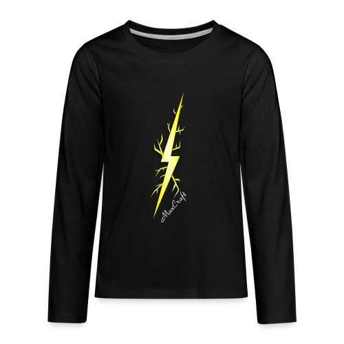 Long Sleeve Tee (Lightning Bolt Logo Line) - Kids' Premium Long Sleeve T-Shirt