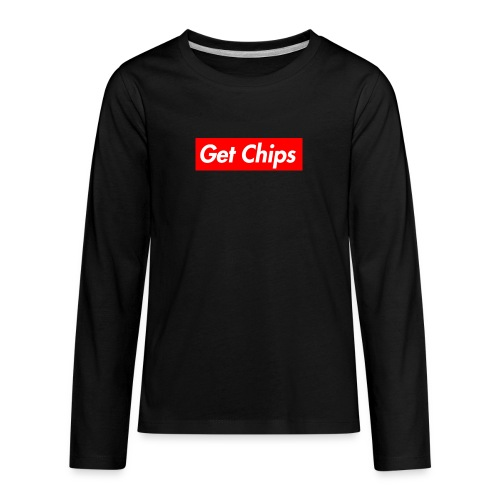 Get Chips Black - Kids' Premium Long Sleeve T-Shirt