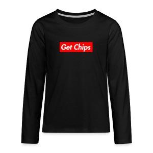 Get Chips Black - Kids' Premium Long Sleeve T-Shirt