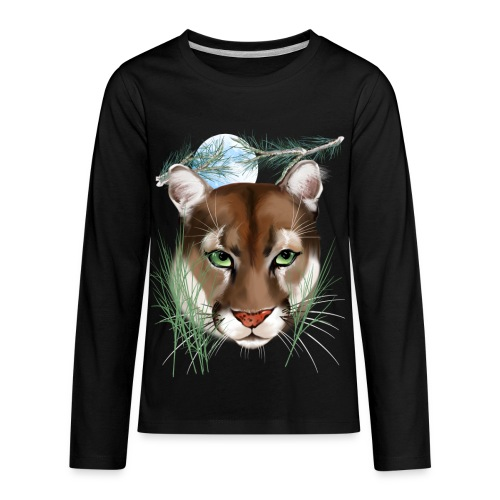 Midnight Puma - Kids' Premium Long Sleeve T-Shirt