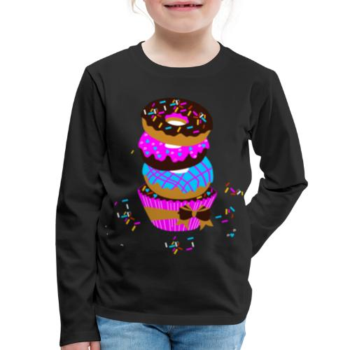 Chocolate Donut with Sprinkles - Kids' Premium Long Sleeve T-Shirt