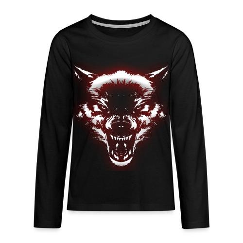 Angry Wolf - Kids' Premium Long Sleeve T-Shirt