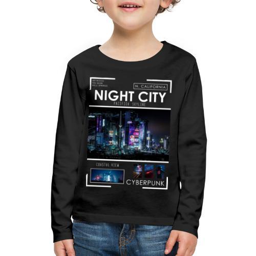 Night City Pacifica Skyline - Kids' Premium Long Sleeve T-Shirt