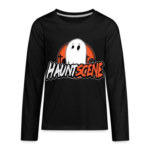 HauntScene Modern Logo 2020 - Kids' Premium Long Sleeve T-Shirt