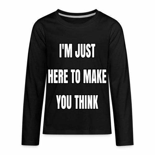 IJHTMYT (White Font) - Kids' Premium Long Sleeve T-Shirt