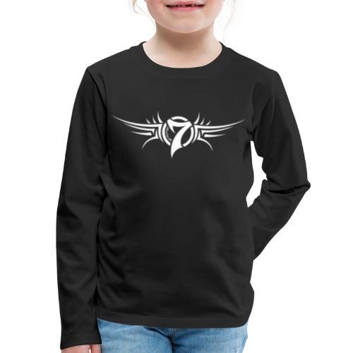 MayheM-7 Tattoo Logo White - Kids' Premium Long Sleeve T-Shirt