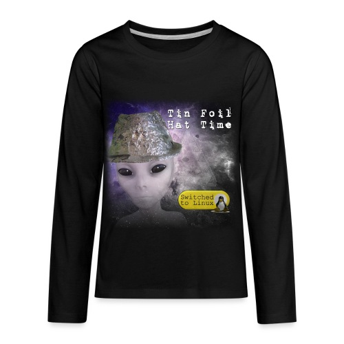 Tin Foil Hat Time (Space) - Kids' Premium Long Sleeve T-Shirt