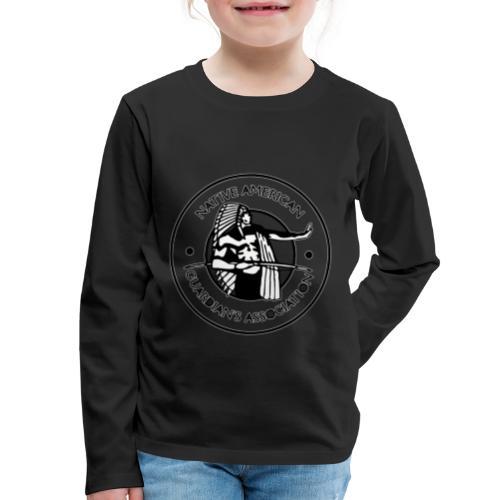 Naga LOGO Outlined - Kids' Premium Long Sleeve T-Shirt
