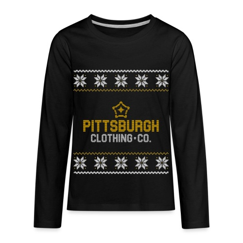 pghcco wordmark sweater - Kids' Premium Long Sleeve T-Shirt