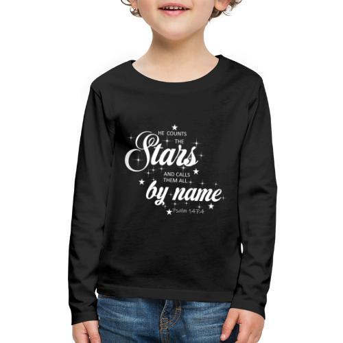 Psalm 147:4 - Kids' Premium Long Sleeve T-Shirt