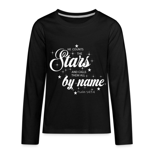 Psalm 147:4 - Kids' Premium Long Sleeve T-Shirt