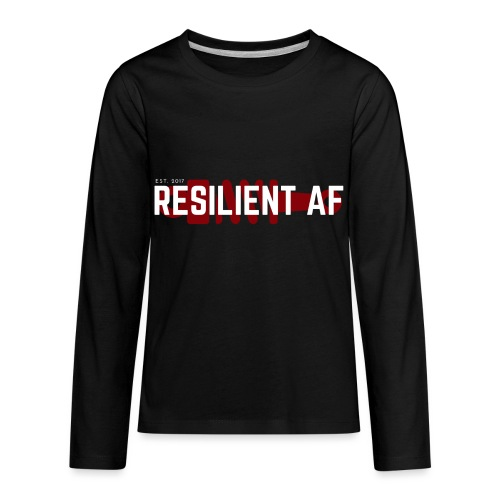 RESILIENT WHITE with red - Kids' Premium Long Sleeve T-Shirt