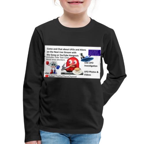 LiveStreamWelcome2 with Crew Back Logo - Kids' Premium Long Sleeve T-Shirt