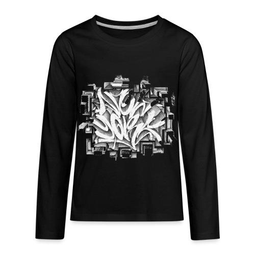 Kostya - NYG Design - REQUIRES WHITE SHIRT COLOR - Kids' Premium Long Sleeve T-Shirt