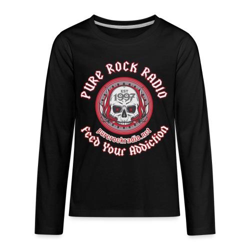 PUREROCKRADIO darkback radioflag PNG png - Kids' Premium Long Sleeve T-Shirt