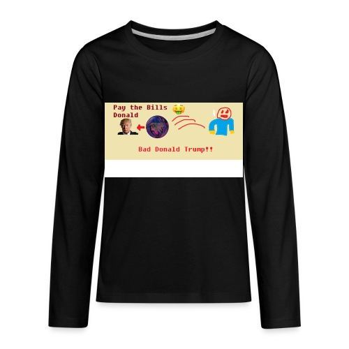 donald trump gets hit with a ball - Kids' Premium Long Sleeve T-Shirt